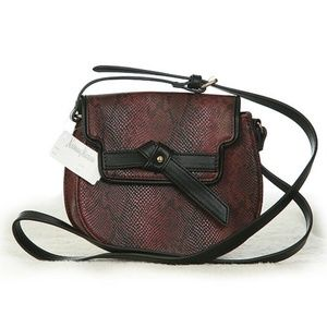 Neiman Marcus Snake Print Shoulder Bag Small NWT
